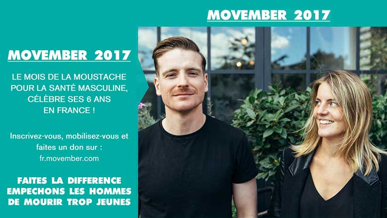 Movember  2017 :  à vos moustaches !