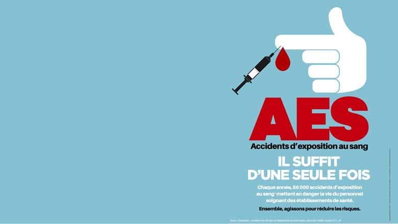 """Campagne de prévention  : """"AES, il suffit d'une seule fois"""""""